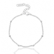 Stainless steel bracelets ball Silver
