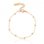 Stainless steel bracelets ball chain Rose Gold