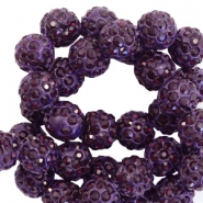 Rhinestone beads 10mm Dark Purple