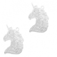 Bohemian charms unicorn Silver