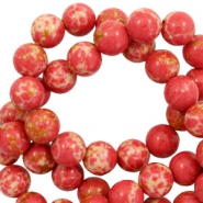 8 mm natural stone beads Imperial Jasper Red