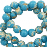 6 mm natural stone beads Imperial Jasper Blue