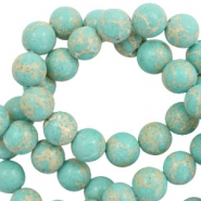 6 mm natural stone beads Imperial Jasper Turquoise Blue