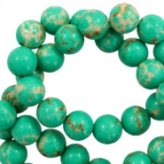 6 mm natural stone beads Imperial Jasper Emerald Green