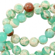 6 mm natural stone beads Imperial Jasper Turquoise Green