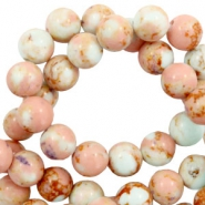 6 mm natural stone beads Imperial Jasper Ginger Pink