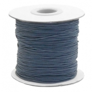 Coloured elastic cord 0.8mm Anthracite Grey