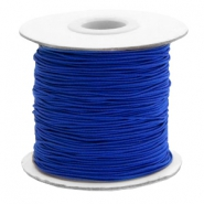 Coloured elastic cord 1mm Cobalt Blue