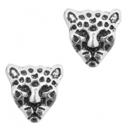 Basic Quality metal beads tiger Antique Silver