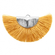 Tassels charm Silver-Honey Brown