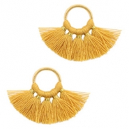 Tassels charm Gold-Honey Brown