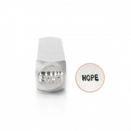 "ImpressArt design stamps ""Hope"" 6mm Silver"