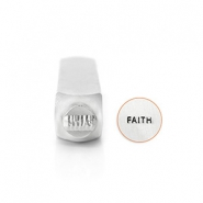"ImpressArt design stamps ""Faith"" 6mm Silver"