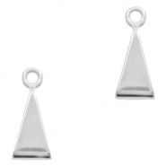 DQ European metal sliders triangle Antique Silver (nickel free)