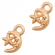 DQ European metal charms moon & star Rose Gold (nickel free)