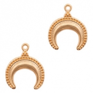 DQ European metal charms horn Rose Gold (nickel free)