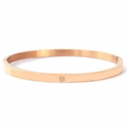 Stainless steel bracelets with clover Rose Gold