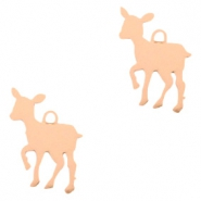 Bohemian charms deer Rose Gold