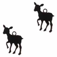 Bohemian charms deer Black
