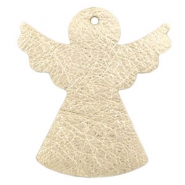DQ European leather pendants angel Light gold