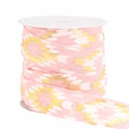 Elastic ribbon aztec Light Pink