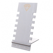 Jewellery display wood diamond Grey