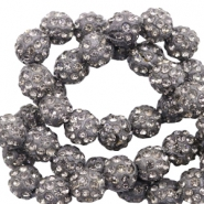Rhinestone beads 6mm Anthracite