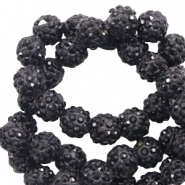 Rhinestone beads 6mm Black