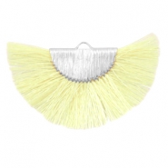 Tassels charm Silver-Light Yellow