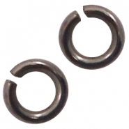 DQ European metal findings jump ring 3mm Silver anthracite (nickel free)