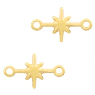 DQ European metal connector charms galaxy star Gold (nickel free)