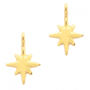 DQ European metal charms galaxy star Gold (nickel free)
