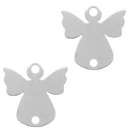 Stainless steel charms connector angel Silver