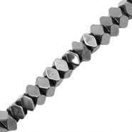 Hematite beads faceted disc Anthracite Grey