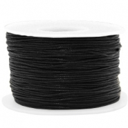 Waxed cord 1mm Black