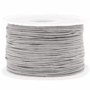 Waxed cord 1mm Light Grey