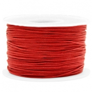 Waxed cord 1mm Warm Red