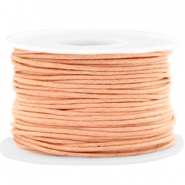 Waxed cord 1.5mm Peach Cream