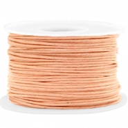Waxed cord 1mm Peach Cream