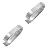 Stainless Steel findings oval jump ring 10x9mm Silver
