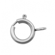 Stainless Steel findings clasp 9x7mm Silver