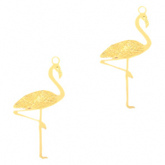 Bohemian charms flamingo Gold (nickel free)