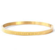 "Stainless steel bracelets ""YOU ARE THE STAR IN MY SKY"" Gold"