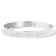 "Stainless steel bracelets ""YOU ARE MY STAR IN THE SKY"" Silver"