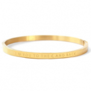 "Stainless steel bracelets ""I LOVE YOU TO THE MOON AND BACK"" Gold"