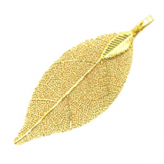 Charm with 1 loop metal leaf Gold (nickel free)