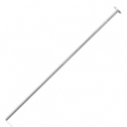 925 Silver findings headpins 50mm Silver