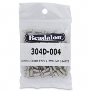 Beadalon Spring Cord End 2.2mm Silver