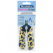 Beadalon Fashion Grips Tool Covers Cheetah Yellow-Black