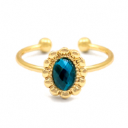 Must-have entourage rings Gold-Blue (nickel free)